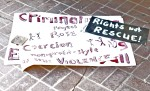 Phoenix advocates used these and similar signs during public protests against a rights violating diversion program.